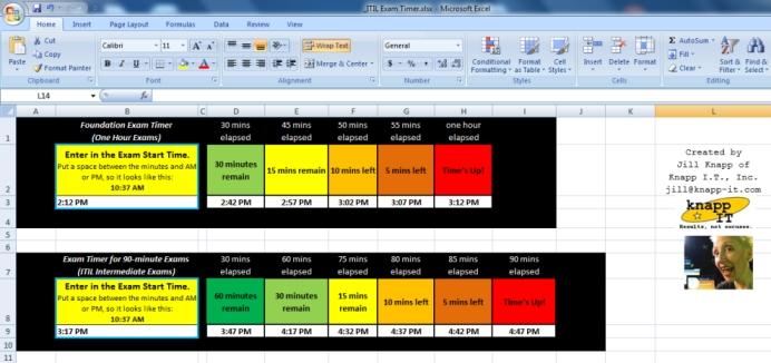 ITIL Exam Timer image